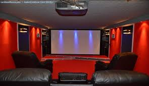 Idée de décoration du mur de projection vidéo dans votre salon
