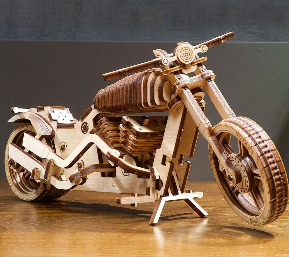 maquette en bois moto à assembler